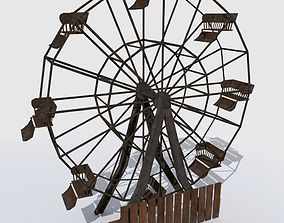 Abandoned Ferris Wheel 3D asset