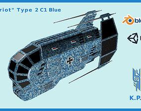 3D model Spaceship Patriot Type 2 C1 Blue