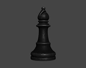 3D model CHES-001 Black Metal Bishop