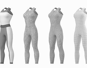 3D asset Woman Sportswear 02 Base Mesh Design Kit