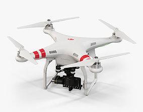 DJI Phantom 2 Quadcopter with gimbal for GoPro 3D asset 2