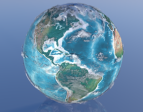 10K Relief World 3D Model 3d animated