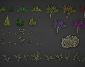 Landscape props collection 3D asset