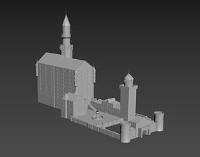 building 3D asset VR / AR ready Castle