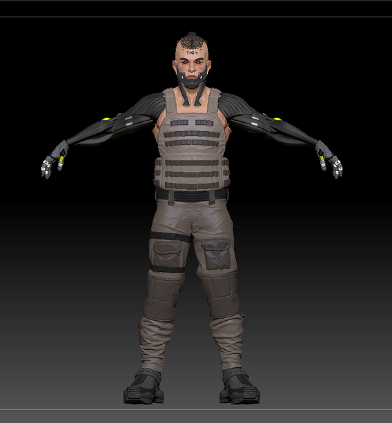Sci fi killer, modified man