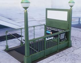 Subway Entrance 3D asset VR / AR ready