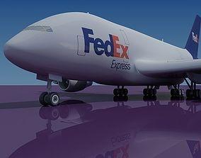 FedEx 3D Model Airbus A380