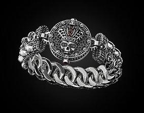 Bracelet for a real biker King 3D printable model