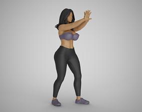 Girl Keeping Distance 3D printable model