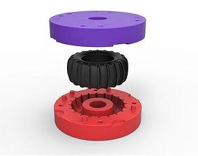 3D printable model Mold for diecast rear tire for Dune 4