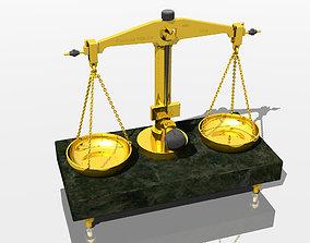 Old precision balance weigh 3D