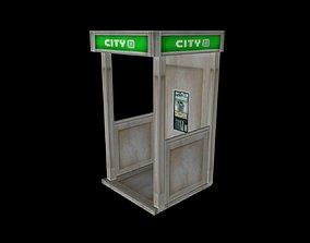 Matrix Phone Booth 3D asset