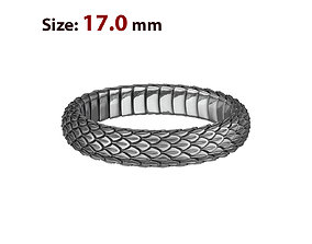 3D print model N025 Snake small texture ring