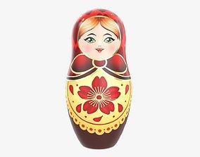 3D Nesting doll Matryoshka 01