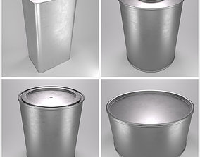 Paint Tin Collection 3D model