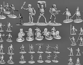 3D printable model Undead Skeleton Army Wargames Set 4