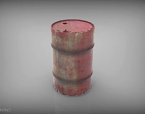 Barrel Low and HighPoly 3D printable model
