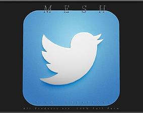 Twitter Icon 3D model