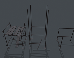 Game Ready Modular Scaffolding Set 3D asset