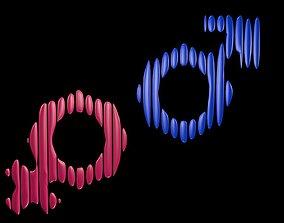 3D model Symbols of gender 5