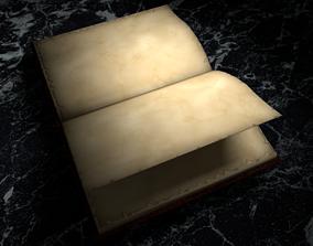 Model anim low poly book 3D asset