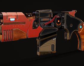 Space Gun in SCI-FI 3D model