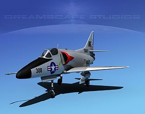 Douglas A-4D Skyhawk V06 USN 3D model