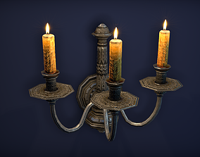 Old wall candle - PBR Game Ready model realtime