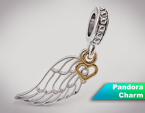 3D Wing Pandora Charm