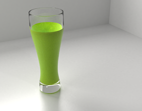 3D model Beer Glass 3 with Liquid