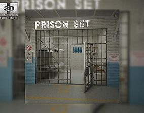 3D asset Prison Set
