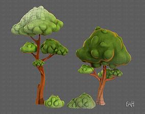 Trees Cartoon V09 3D model