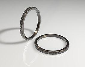 plata 3D model Diamond ring