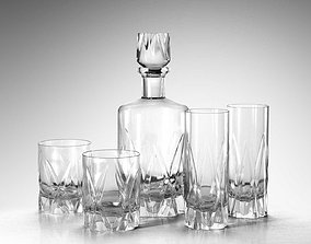 Icebreaker Decanter and Tumblers 3D