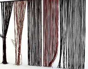 Curtains rope Kisea spline 3D model