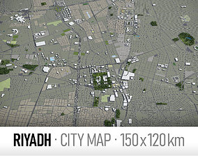 Riyadh - city and surroundings 3D asset game-ready