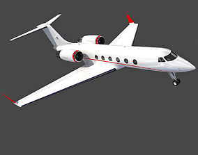 Gulfstream IV Private Jet Aircraft 3D