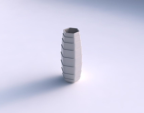 3D printable model Vase hexagon with horizontal layers