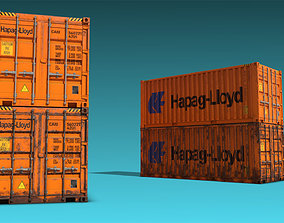 3D model Shipping Container 04