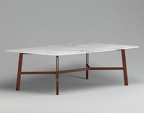 3D model Matt Glass Dinning Table
