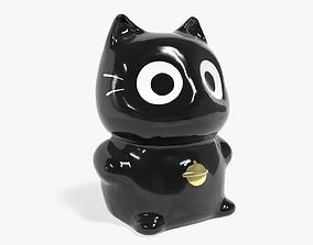 Lucky fortune cat 3D asset