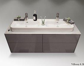3D Finion vanity unit angular bathroom furniture