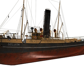3D model steam tug Goliath