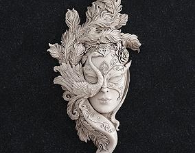 Face mask girl 3D printable model