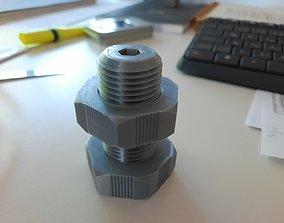 3D printable model nut bolt key