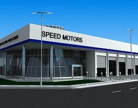 Car Showroom Building 3D model
