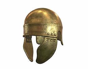 3D model Antique Greek Warrior Helmet