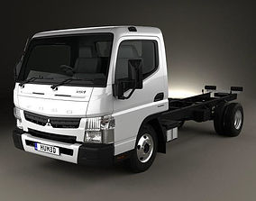 3D Mitsubishi Fuso Canter 515 Wide Single Cab Chassis 1