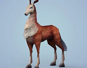 Fantasy Beautiful Deer 3D asset