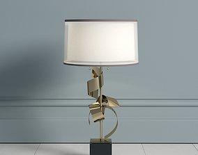 3D model John Richard Brass Curls Lamp lamp